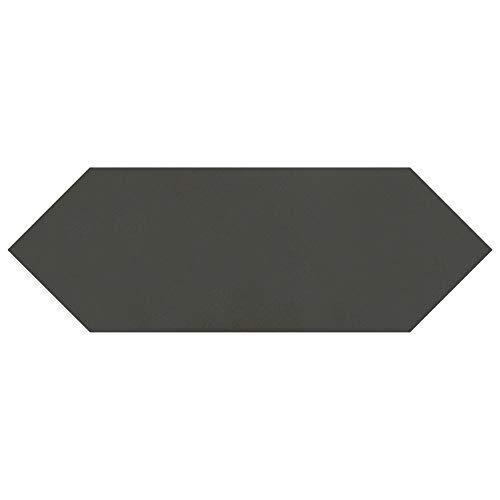 SomerTile FEQ12KBK Cometi Porcelain Floor & Wall Tile, 4u0022 x 11.75u0022, Black