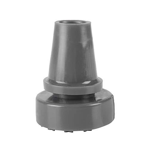 Tacos para muletas con tubo de, Gomas antideslizantes giratorias antideslizantes 360 ° Puntas de bastón de muleta Protector de fondo inferior Accesorios de reemplazo