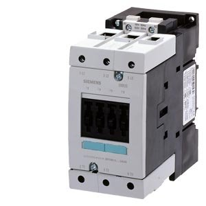 Siemens 3RT10 44-1AK60 Motor Contactor, 3 Poles, Screw Terminals, S3 Frame Size, 120V at 60Hz and 110V at 50Hz AC Coil Voltage Voltage