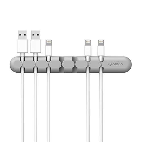 ORICO Kabelclips Kabelhalter Kable Management Adhesive Desktop Kable Fixer,Cable Holder,Desktop Cord Holder, Hider, Charging Cable Drop Organizer for TV PC Laptop Home Office (Grey)