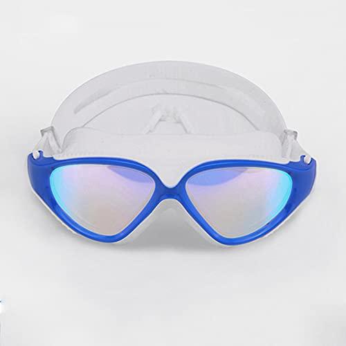 CellLucky Gafas de natación profesionales para adultos, impermeables, protección UV, antivaho, ajustable, color azul claro, talla única)