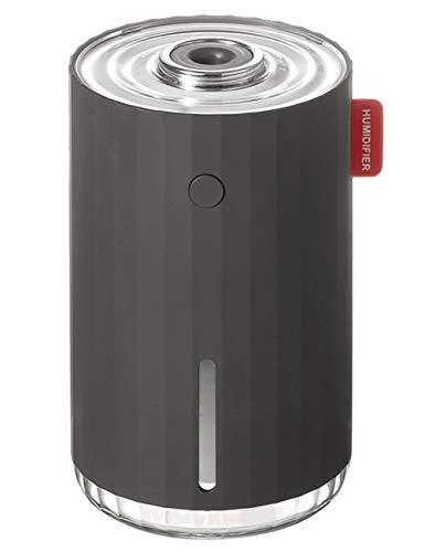 Karinear Mini Humidificador, Ultrasónico de 280ml Humidificador Silencioso con luz Nocturna, Apagado Automático sin Agua, Vapor Frío, Modo de Niebla Ajustable, para Habitación, Oficina, Coche (Gris)