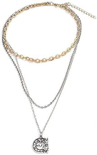 BEISUOSIBYW Co.,Ltd Collares Multicapa Vintage Largo Conejo Reloj Cadena Collares Colgantes para Mujeres Regalo joyería para Jugar a ti Mismo Regalos