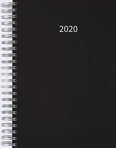 Preisvergleich Produktbild 2020 Dicker TageBuch Kalender / Bürokalender Black (Schwarz) - Spiralbindung - 1 Tag = 1 Din A4-Seite