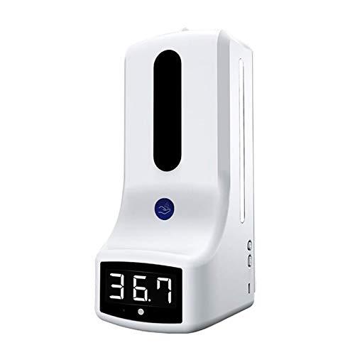 flygogo K9 Dispensador de jabón líquido automático Dispensador Inteligente Manos Digitales Lavado Máquina Libre máquina de Infrarrojos sin Contacto (Color : White)