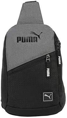 PUMA unisex adult Sling Backpack Heather Gray One Size US product image