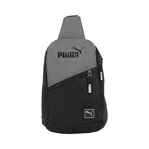PUMA Sidewall Sling Backpack, Heather Grey, One Size