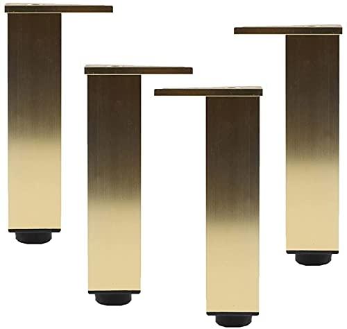 4 piezas Patas de muebles Patas de mesa de metal dorado ajustable Patas de muebles Aleación de aluminio Repuesto Elevadores de muebles Sofá Sofá Patas de escritorio Armarios de cama Elevadores, placa