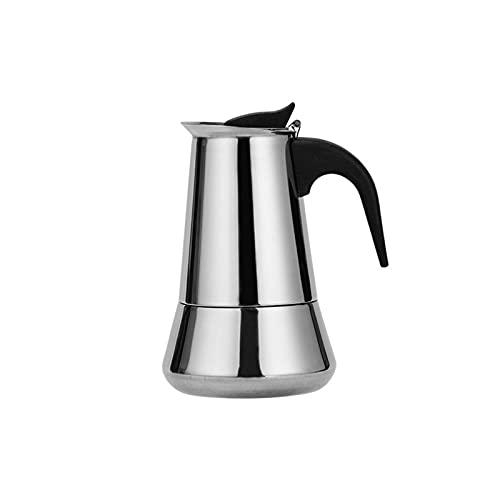 Nicoone Cocina de inducción de acero inoxidable, cafetera de inducción con filtro de cocina, uso en el hogar