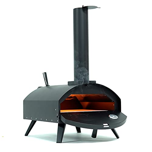 GBT AUTOSTYLING BBQ-BITS BELLA BLACK WOOD FIRED OUTDOOR PIZZA OVEN BARBECUE GRILL LIKE OONI