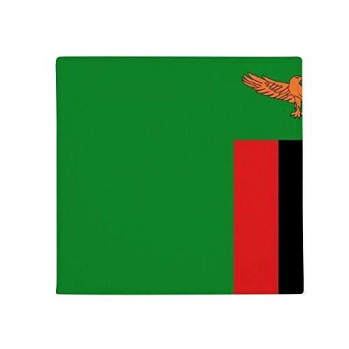 Zambia bandera nacional África país antideslizante alfombra Pet Square baño salón cocina puerta 60/50cm regalo