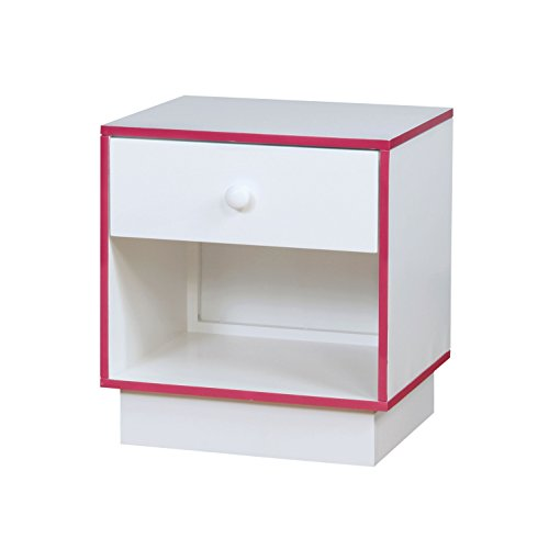 HOMES: Inside + Out Wexler Childrens Nightstands, Pink/White