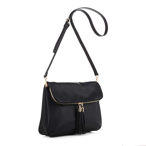 Concealed Carry Crossbody Bag | Firearm Purse | Detachable Strap | Black
