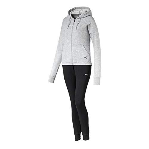 PUMA Damen Trainingsanzug Clean Sweat Suit CL TR 844876 Light Gray Heather S