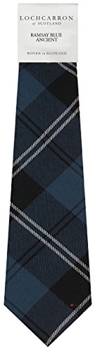 I Luv Ltd Gents Neck Tie Ramsay Blue Ancient Tartan Lightweight Scottish Clan Tie