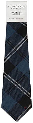 I Luv Ltd Gents Neck Tie Ramsay Blue Ancient Tartan Lightweight Scottish Clan Tie
