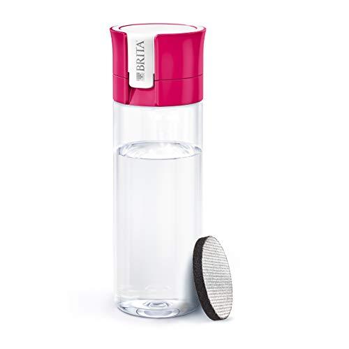 BRITA Water Filter bottle, reduces chlorine and organic impurities, BPA free, Pink, 600ml