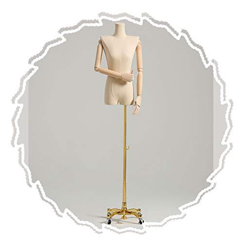 RZEMIN ZEMIN Maniquí de Costura, Forma de Vestido Ajustable Hombro Plano, Maniquí de Sastre para Accesorios de Sastrería de Escaparates, Base Móvil, 2 Estilos (Color : D)