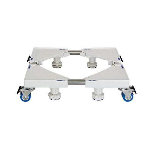 NUBAO Groot apparaat basis Vouwvoet Multi-functionele platform wasmachine/Droger/kast/koelkast 360 graden 8 rotatie mobiele Verstelbare Afsluitbare basis wit