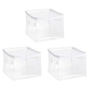 Amazon Basics Clear Zippered Organizers 3-Pack