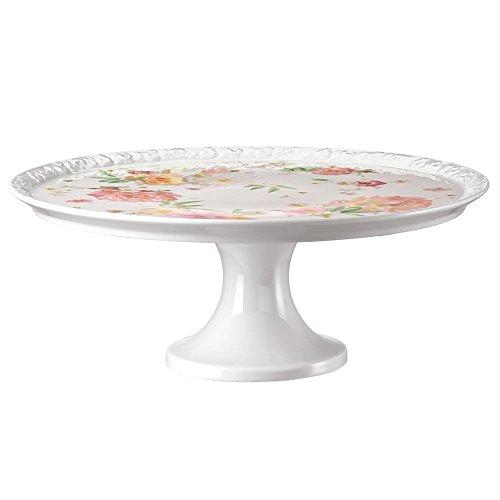Rosenthal Tortenplatte auf Fuß, Mehrfarbig