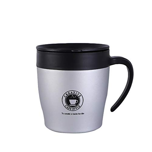 Insulated Stainless Steel Coffee Cup with Handle Double Walled Vacuum...