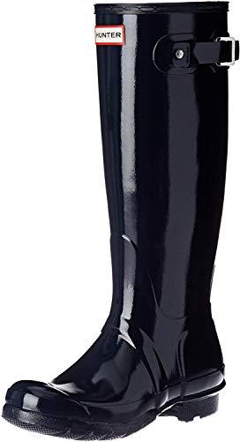 Hunters Original Tall Gloss - Botas de agua, color: Azul, Azul, 35/36 EU