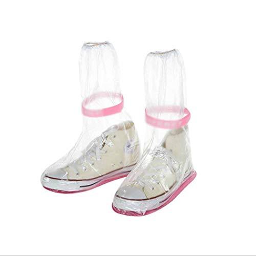 QHYY PVC Geruchloser Schuh Tragbarer, verschleißfester Schuhüberzug Verdickter Silikagel-Hochschuh
