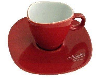Alfredo Espresso-Tassen mit Untertassen rot 'Walküre' 6 Stück