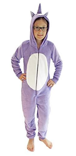 Mädchen Jumpsuit Overall Onesie Schlafanzug in niedlichen Tier Motiven - 291 467 97 606, Größe:164, Farbe:Einhorn
