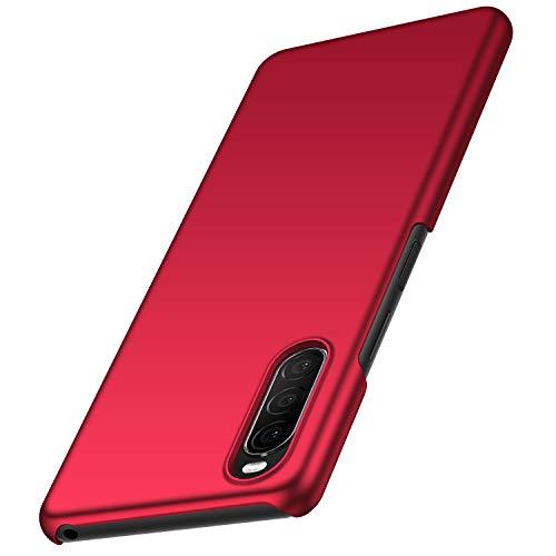 anccer Funda Sony Xperia 10 II, Ultra Slim Anti-Rasguño y Resistente Huellas Dactilares Totalmente Protectora Caso de Duro Cover Case para Sony Xperia 10 II (Rojo Liso)