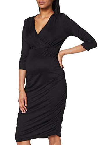 MAMALICIOUS Damen MLAIMY TESS 3/4 Jersey ABK Dress 2F A. Kleid, Black, M
