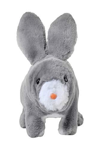 Home-X Gray Rabbit, Electric Rabbit Toy, Interactive Pets, Stuffed Animals