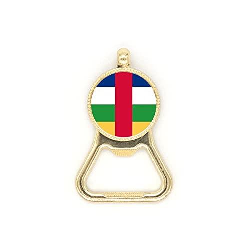 Zentralafrikanische Republik Flagge Afrika Bierflaschenöffner Edelstahl Schlüsselanhänger