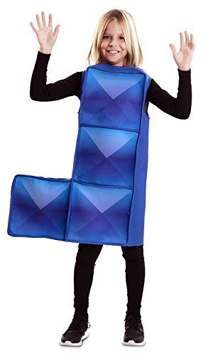 EUROCARNAVALES Disfraz de Tetris Azul Infantil 7 a 9 años