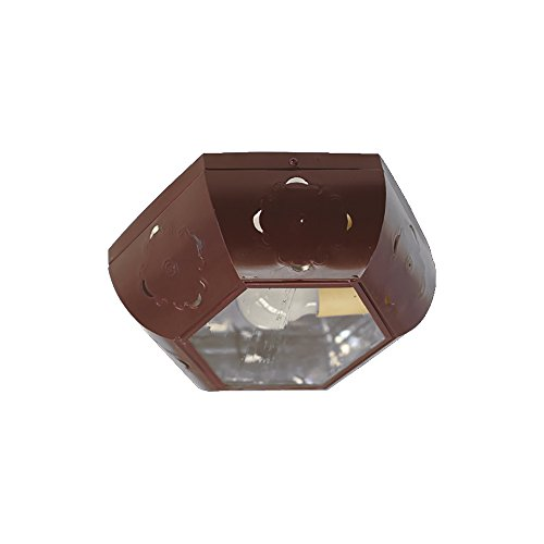 Plafón Granadino Artesanal Modelo Safari 7855/2CDGO (Caldera -Cristal Gótico)