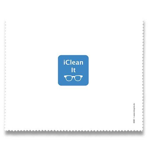 Brillenputztuch 17 x 15 cm • 44301 ''iClean It'' von Inkognito • Künstler: INKOGNITO © Martin Scheffler