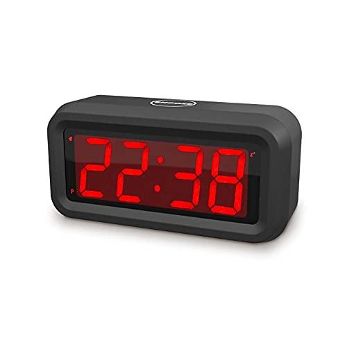 EUTUKEY réveil Enfant, Un réveil numérique Lumineux, Un réveil électronique LED alimenté par Piles, 4 Piles AA Peuvent Durer Plus d'un an, Peut être accroché au Mur, Convient aux Enfants, Filles