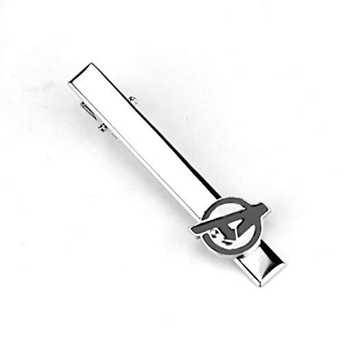 HMYDZ Gioielli di Film Marvel The Avengers Logo Una Lettera Smalto Nero Tie Clip Camicia di Marca Polsino Pulsanti Gemelli degli Uomini Gift-40 (Color : F 247)