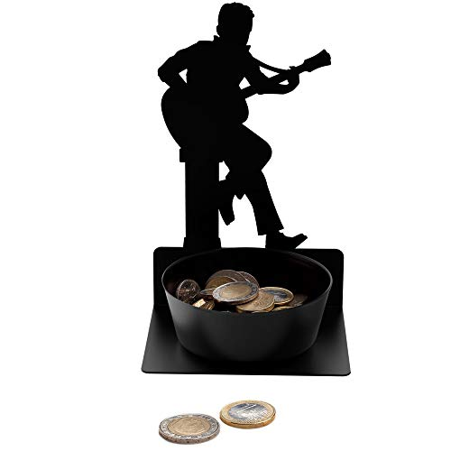 Artori Design Guitarist Coin Holder - Guitar Pick Holder - Metal Black...