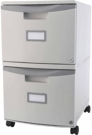 Storex 2-Drawer Mobile File Cabinet Lock with セール品 完全送料無料 Legal Casters and