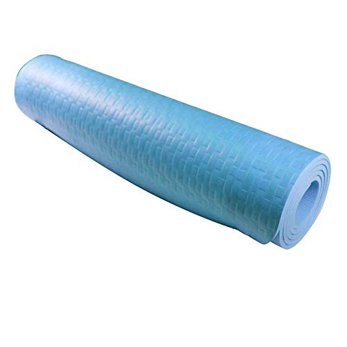 Azorex Esterilla Yoga Espeso Antideslizante Alfombrilla de Yoga Espesor 8/10 mm Esterilla Pilates Esterilla Deporte (Azul, Espesor 8mm Ancho 61cm)