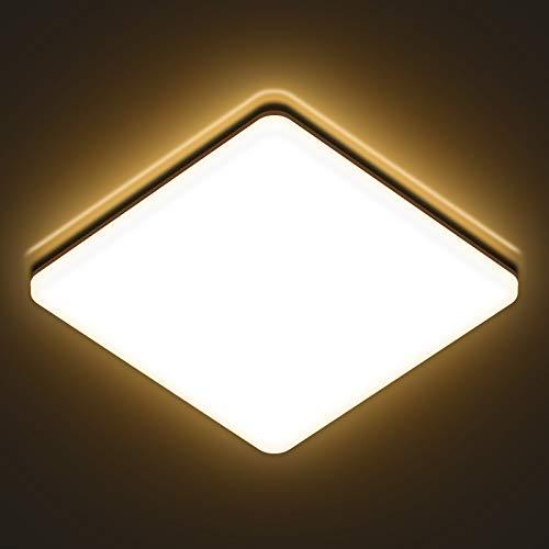LED Deckenleuchte 24w, AVANLO 3000k Deckenlampe LED Panel, Ø28cm Küchenlampe 2400lm, Wohnzimmerlampe Badezimmer Lampe, Deckenleuchte für Büro, Dünn
