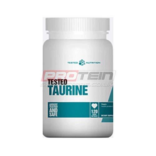 Tested Nutrition TAURINE - Aminos Aminosäure BCAA Muskelmasse Mit Vitamin C Bodybuilding - 120 Kapseln