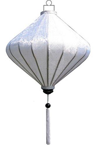 Lampionsenzo Vietnamesische Seide Lampion Diamant Weiß by