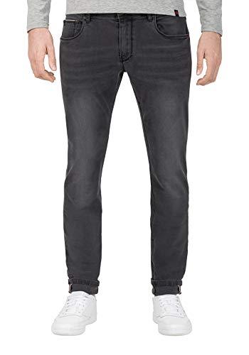 Timezone Herren Slim ScottTZ Skinny Jeans, Grau (Anthra Shadow wash 8650), W38/L32 (Herstellergröße:38/32)