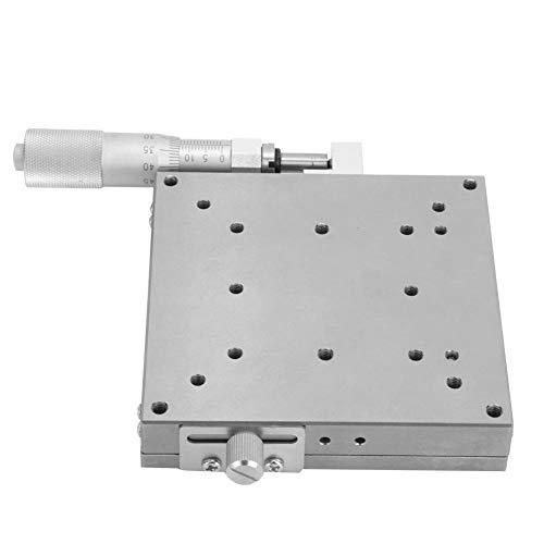 Handmatig trimplatform, zeer nauwkeurig kogeltype roestvrij staal X trimplatform, 100x100 mm handmatig lineair platform, stevig en duurzaam, krasbestendig, voor XSG100 model schuiftafel