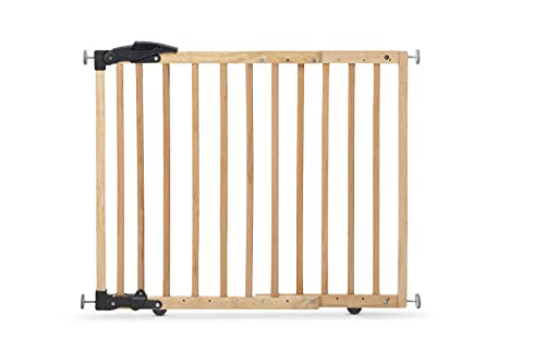 Geuther Türschutzgitter 2714 - Türschutzgitter zum Klemmen oder Schwenken aus Holz in Natur