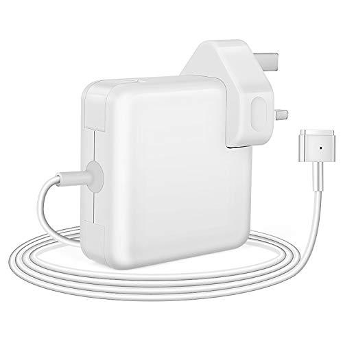 Wallin Compatibile con Caricatore Adatto per Mac Book PRO 85w Alimentatore per Mac Book 13-15-17 Pollici di Ricambio Air-PRO(2012-2015) T-Tip Magnetico