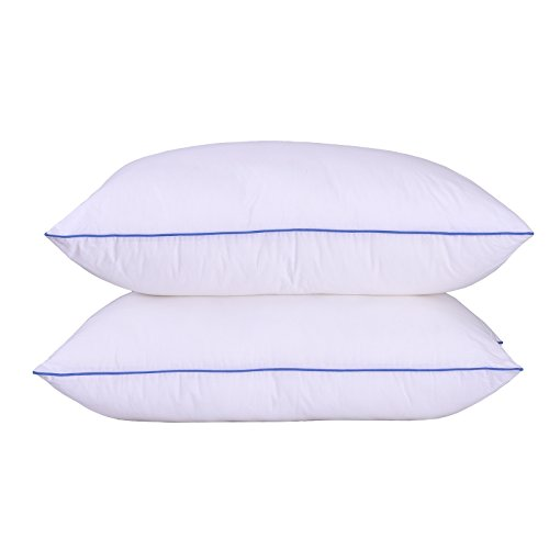 Sfoothome Down Alternative Soft Bed Pillows Sleeping, 2 Pack,Standard Size, 100% Cotton Shell,...